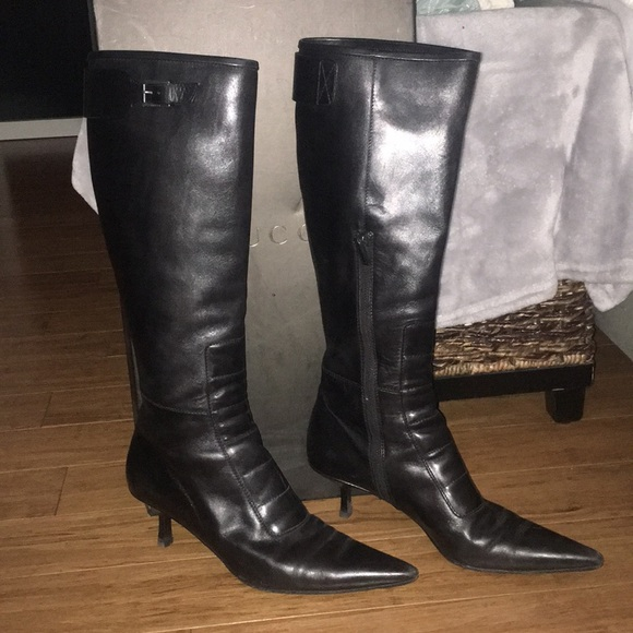 Gucci Shoes | Knee High Black Leather